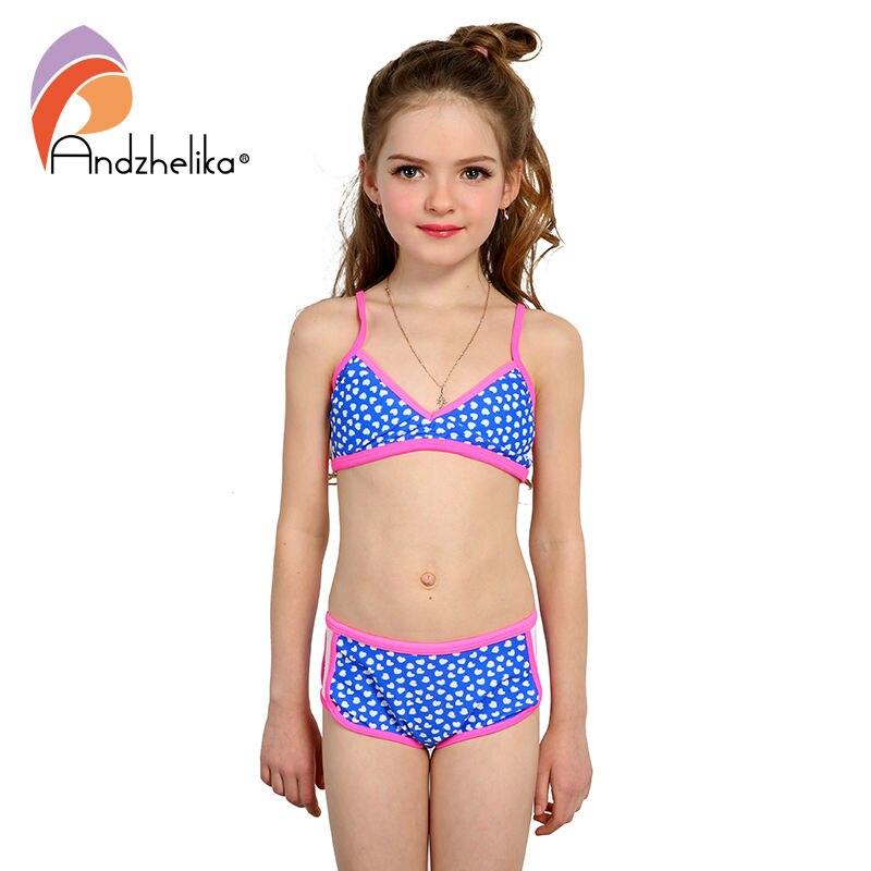 48d73b14b2 Andzhelika maillot de bain fille Bikini mignon coeur maillots de bain été  enfant Patchwork maillot de bain enfants Sport Bikini ensemble enfants body  dans ...