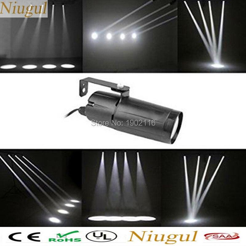 (Белый) 5 Вт pinspot светлый деним узкий луч pinspot Освещение крепление Spotlight проектор для танцпола, торжества, вечерние, KTV