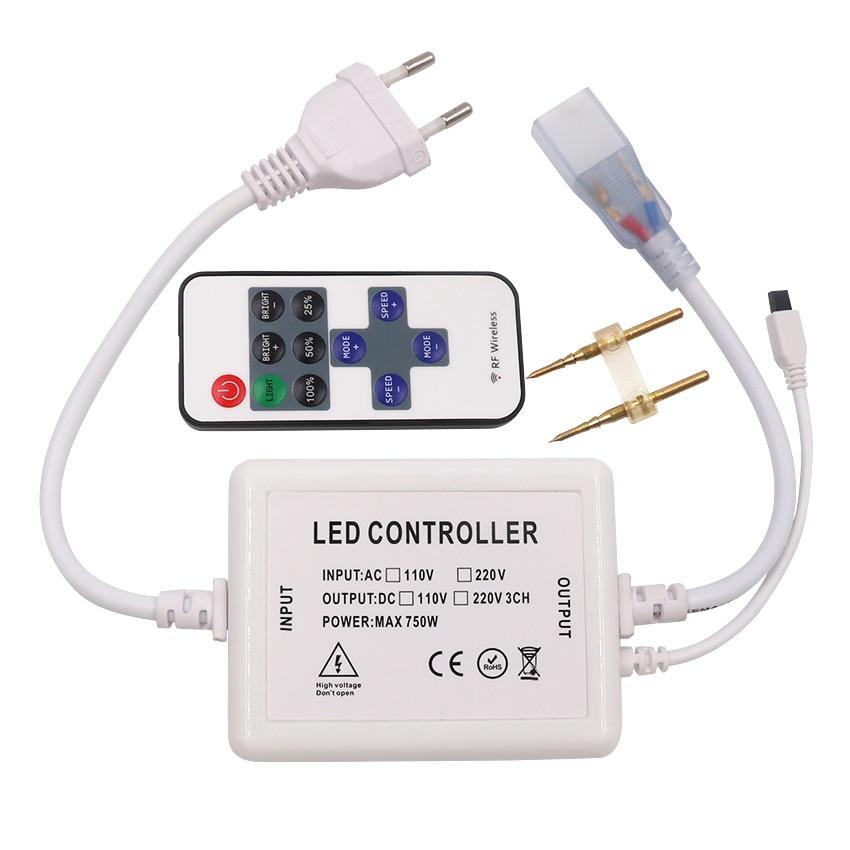 110v 220v Led Dimmer Controller With IR Remote 750W EU Plug / US Plug Free Shipping