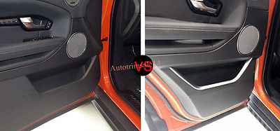 4Pcs ABS Interior Door Cover Trim For Land Rover Range Rover Evoque 2011-2016 2pcs abs car interior accessories center control side strip cover trim for land rover lr4 discovery 4 2013 2016 car styling