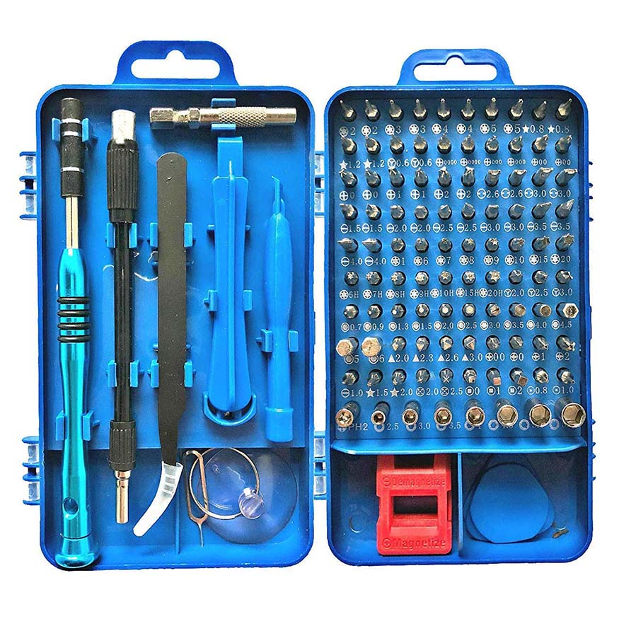 Vastar 110 In 1 Sets Precision Multi Purpose Torx Screwdriver Set For Cell Phone Disassemble Watch Glasses Electrical Tools
