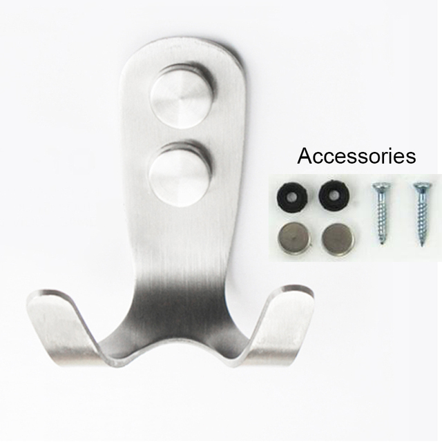 Superb 10pcs Stainless Steel Double Wall Clothes Hooks Wall Hanger Robe Hooks For  Bathroom Kitchen Bedroom Free