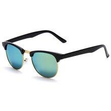 2017 Women Cat Eye Sunglasses Retro Vintage Half Frame Metal Sun glasses Eye Glasses oculos round sunglasses for women