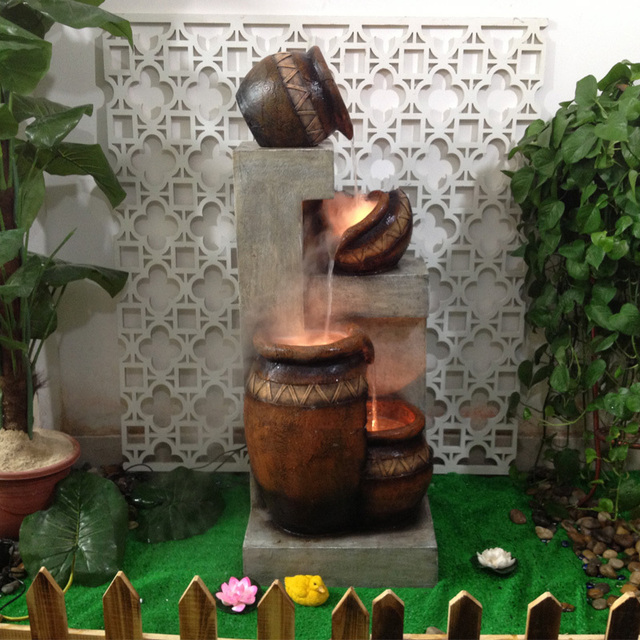 Balcony Water Fish Tank Water Fountain Display Technology Bonsai Humidifier Living  Room European Style Garden