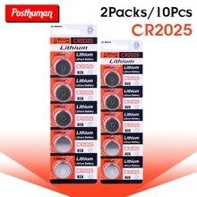 POSTHUMAN CR2025 CR 2025 батарейка кнопочного типа 3 в плоский круглый аккумулятор Батарея 10 шт* CR2025 ECR2025 DL2025 BR2025 2025 KCR2025 L12 литиевые батареи