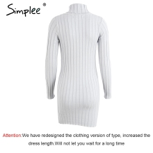 Sweater Dress Women Cotton Autumn Winter