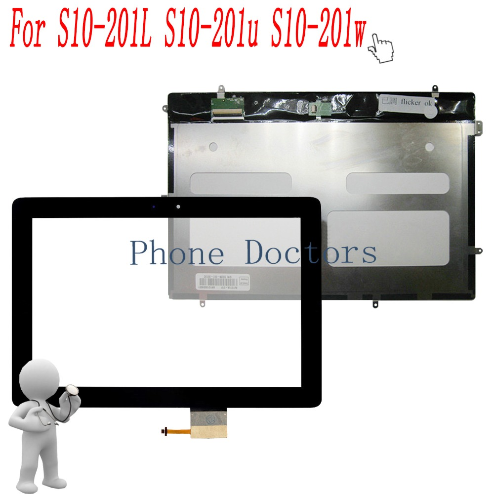 10.1 inch Touch Screen Digitizer Glass Lens + LCD Display For Huawei MediaPad 10 Link LTE-A S10-201L S10-201u S10-201w