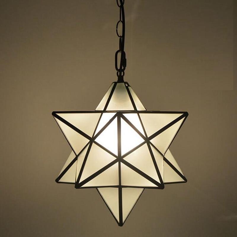 Loft Vintage Pendant Lamp Light, Shooting Star Tiffany Glass Lighting Ceiling for Home Aisle Corridor Porch Shop luminaire Loft