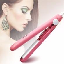 Портативная Керамическая мини электронный выпрямитель для волос Выпрямление для парикмахерских женщин Красота влажные/сухие Выпрямители