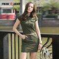 Новая Мода Женщины Летнее Платье С Коротким Рукавом Мини Платья Секси женщины Army Green Печати униформа Плюс Размер GS-8556A