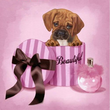 5D Diy Diamond Painting Cross Stitch  Embroidery Bulldog & Lovely Dog Baby Mosaic Full Rhinestone Needlework