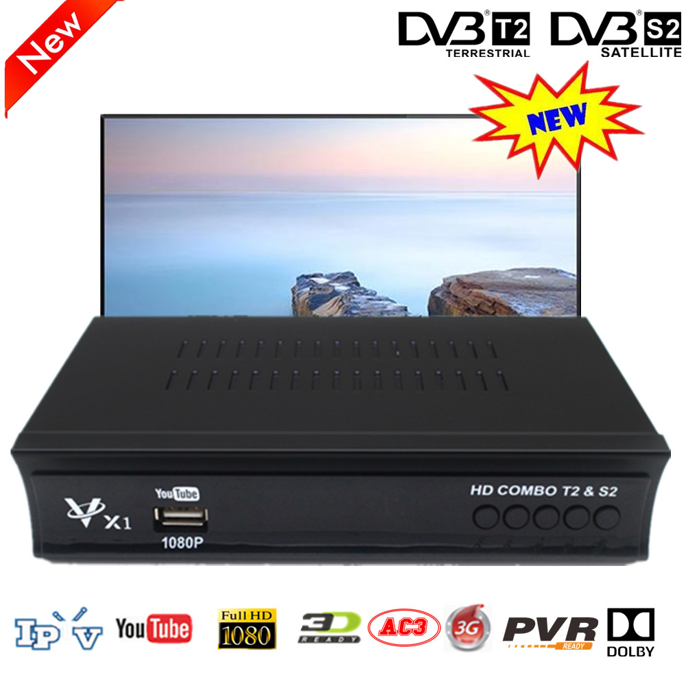 Vmade Full HD DVB T2 S2 COMBO BOX Terrestrial Satellite TV Receiver Set Top Boxes Support Wifi IKS Cccam Youtube Bisskey Dolby