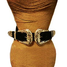 New Fashion Female Vintage Strap Metal Pin Buckle Leather Belts For Women elastic Designer sexy gold hollow out wide waist belts
