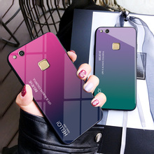 For Huawei P10 Lite Case Luxury Hard Tempered Glass Silicone