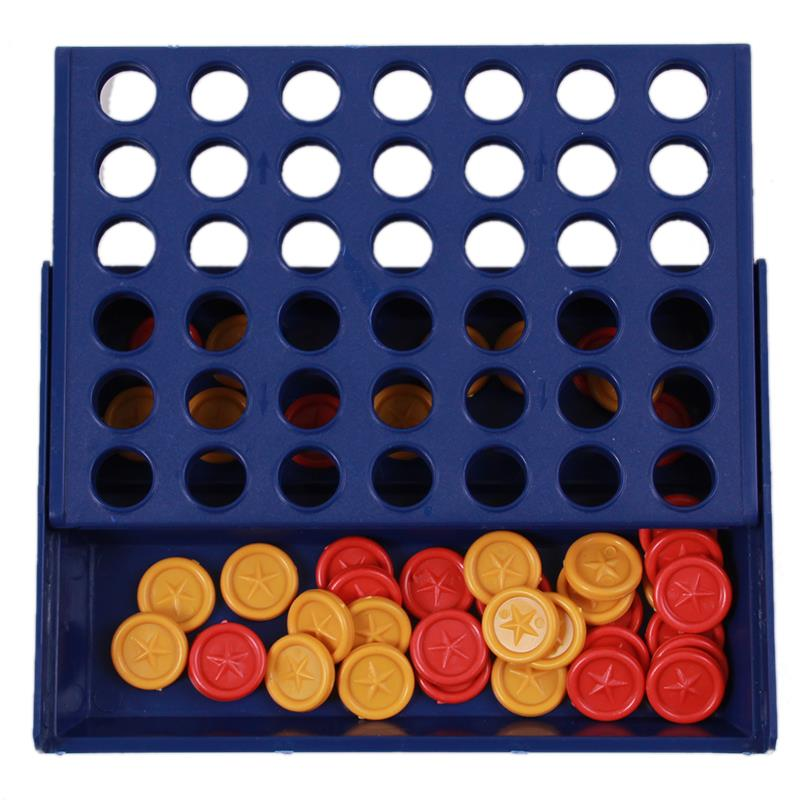 Educational Toy Chess Children Toys-Bingo Game Four Quadruple Chess Game Board Vertical Blue Vertical Connect Board Checkers