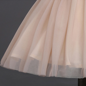 Image 4 - JaneyGao 2019 אופנה פרח ילדה שמלות למסיבת חתונה אלגנטי שמפניה שמלת טול שמלה עם רקמת תחרה אפליקציות