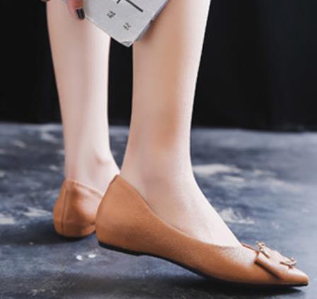 Frühling Spitzen Und Neue Mit weiß Schwarzes Mund Schuhe Flach Herbst orange Frauen Mode Zehen 2019 Uw8qdCw