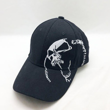 New Unisex 100% Cotton Skull Embroidery Baseball Cap High Quality Men Women Summer Casual Fashion Black Hat