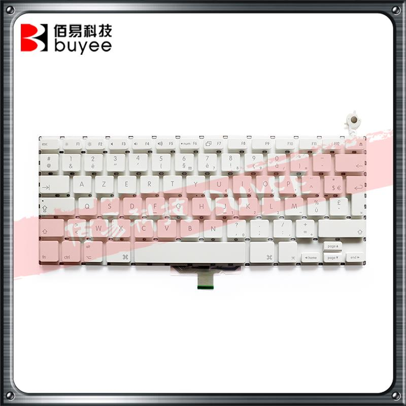 White Black Color A1181 French Keyboard For Macbook Air A1181 A1185 FR Keyboard Replacement