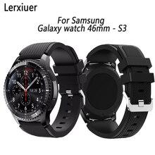 Купить с кэшбэком Sport Silicone Strap for Samsung galaxy watch 46mm /Gear S3 Frontier /Classic band wrist bracelet 22mm smart watch accessories
