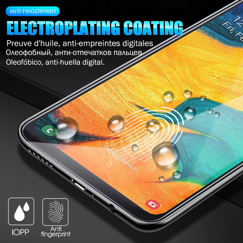 2PCS Full Tempered Glass For Samsung Galaxy A50 A70 A20 A30 A10 A80 A90 A7 Screen Protector For Samsung M20 M30 M10 Glass Film