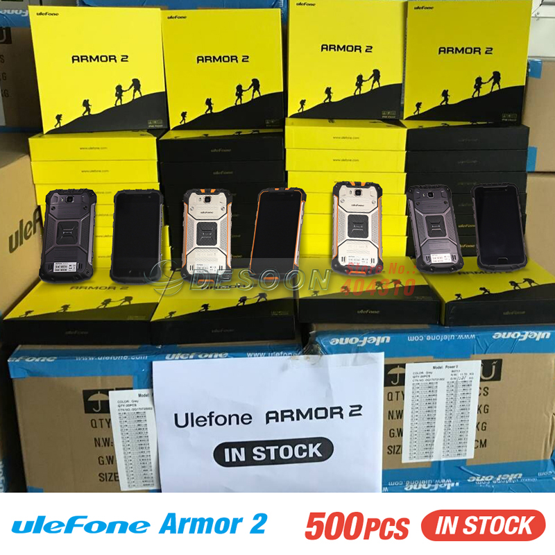 Ulefone Armor 2 IP68 Waterproof Mobile Phone 5.0 Inch FHD 6GB RAM 64GB ROM Helio P25 Octa Core 2.6Ghz NFC 4700mAh Dustproof 4G
