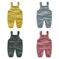 kz-9821 Baby Bib pure spring 2017 Korean version of the new boy kids children leisure pants Overalls