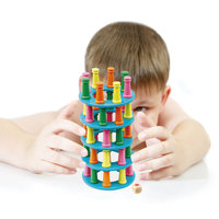 Tower Collapse Parent child Game Wooden Stacking High Building Blocks Game Toys Balance Exercise Invigorating Early Education