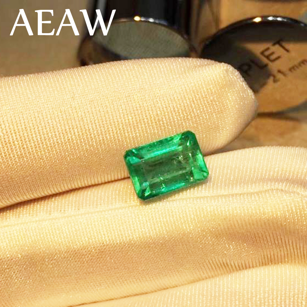 AEAW Lab Created Colombia Emerald CCE Loose Gemstone for Ring 6x8mm About 2 Carat