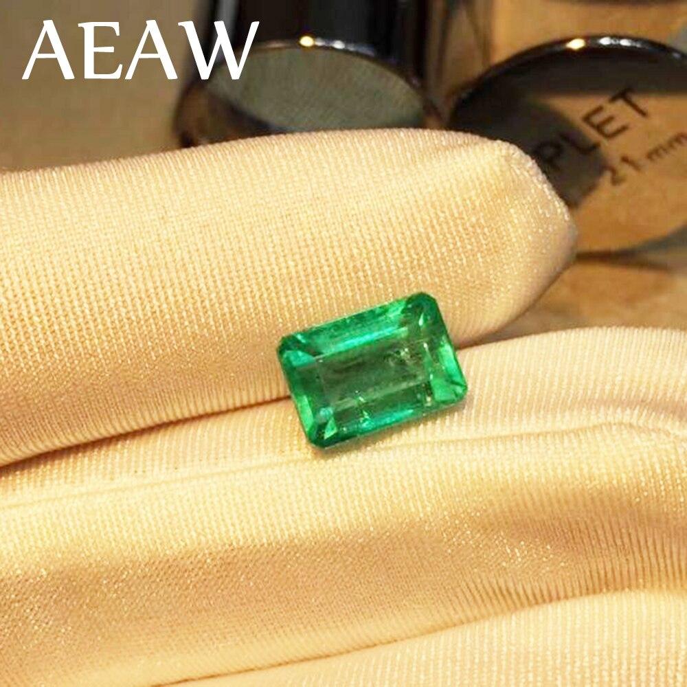 """AEAW Lab Creato Colombia Smeraldo """"CCE"""" Allentati Della Pietra Preziosa per Anello di 6x8mm Circa 2 Carati.-in Brillanti e pietre dure singoli da Gioielli e accessori su  Gruppo 1"""