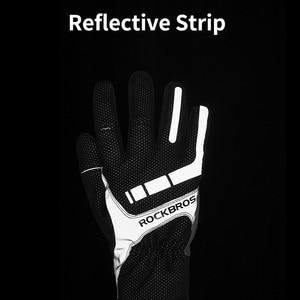 Image 5 - ROCKBROS סקי כפפות מגע מסך Windproof תרמית חורף שלג כפפות גברים נשים ספורט סנובורד עבה אנטי להחליק סקי כפפות