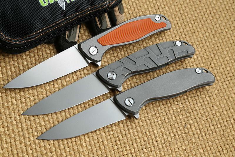 Green thorn F95 Flipper 95 folding font b knife b font bearing Titanium carbon fiber dinner