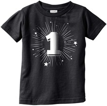 Design A Shirt Print Crazy Dog Tshirts Infant One Year Old Birthday Party Celebration Age Tee For Babies Men O-Neck Short Sleeve dog print tee