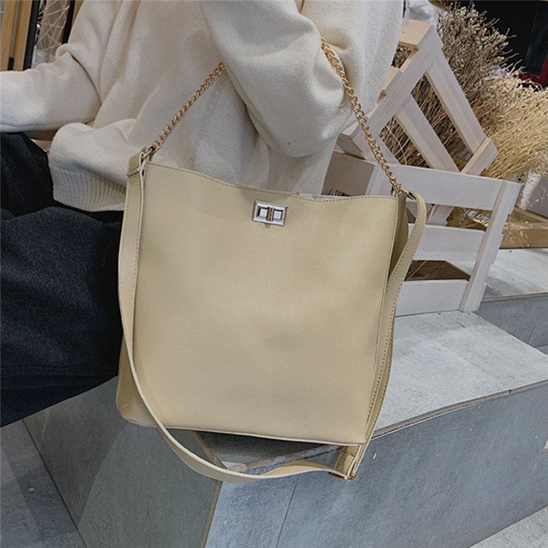 Bags For Women Chains Bucket Bag Lady Shoulder Crossbody Bags Pu Leather Handbags Designers