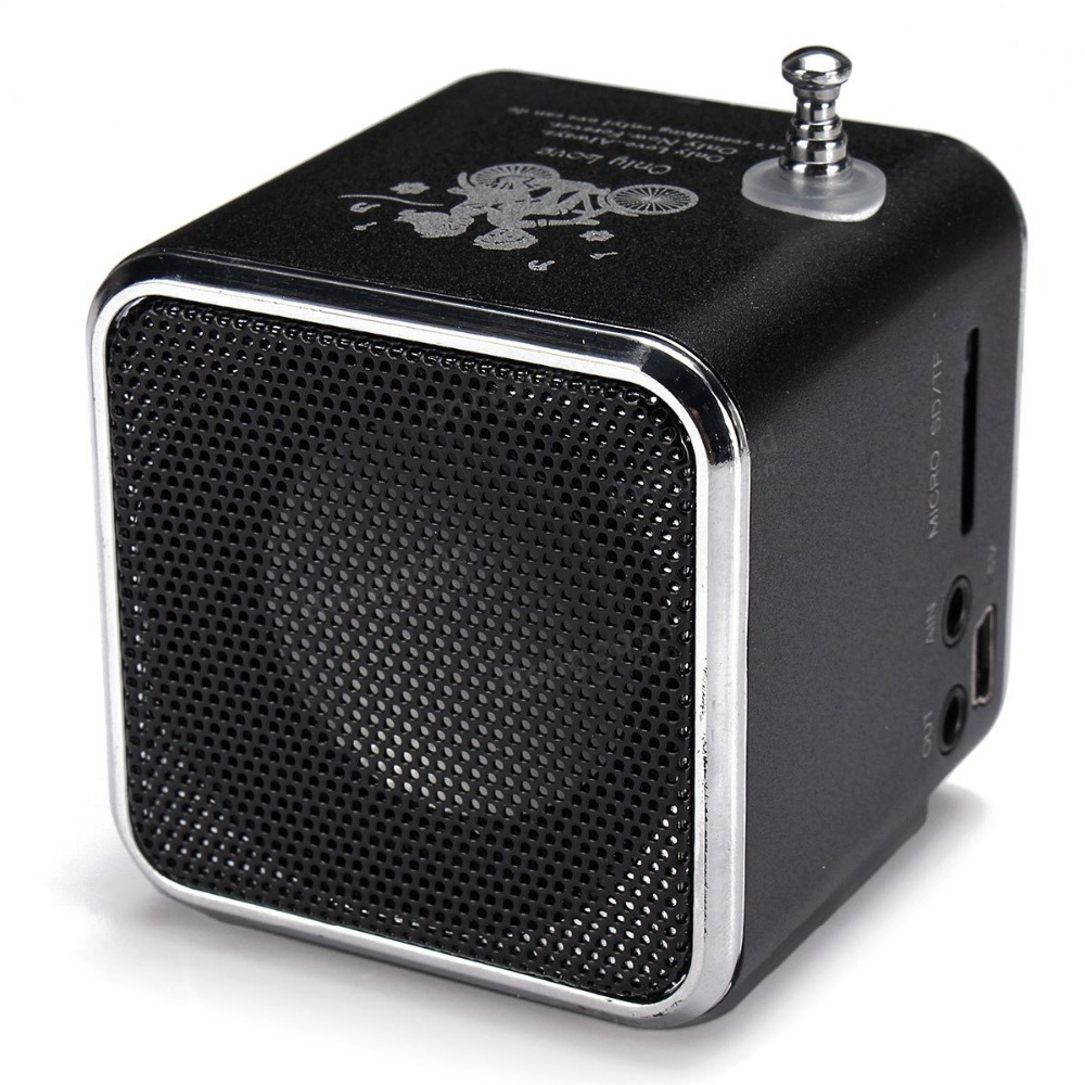 10pcs lot TD V26 Mini Speaker Portable MP3 Music Player w LCD Support FM Radio Micro