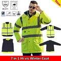 EN471 Y ANSI/MAR 107 AS/NZS Hi vis parka rompevientos impermeable capa de lluvia chaqueta reflectante de seguridad ropa de trabajo