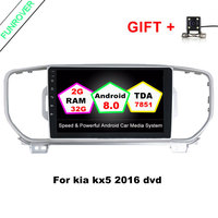 Funrover 2G+32G Android 8.0 Car dvd Player gps dvd for KIA KX5 2016 2017 car pc gps navigation 2 din car stereo head unit RDS BT