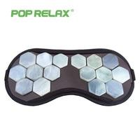 POPRELAX natural jade beauty facial mask travel eyeshade health stone eyecare patch physical medical massage sleeping face mask