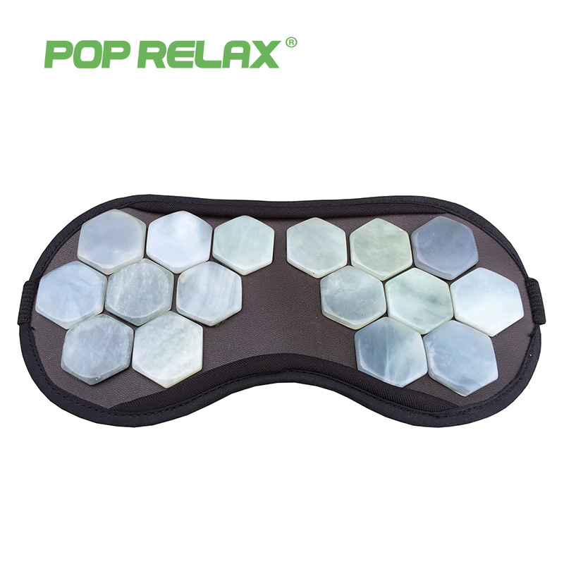 POPRELAX natural jade beauty facial mask travel eyeshade health stone eyecare patch physical medical massage sleeping face mask lovely travel nap cartoon crown long eyelashes eyeshade sleep mask