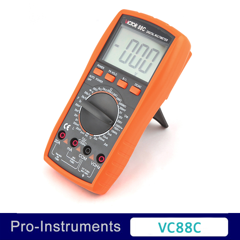 Victor VC88C Professional Manual Range 2000 Counts 20A 1000V Resistance Capacitance Inductance Temperature Digital Multimeter ammeter multitester 2000 counts resistance capacitance inductance temperature victor digital multimeter vc9805a
