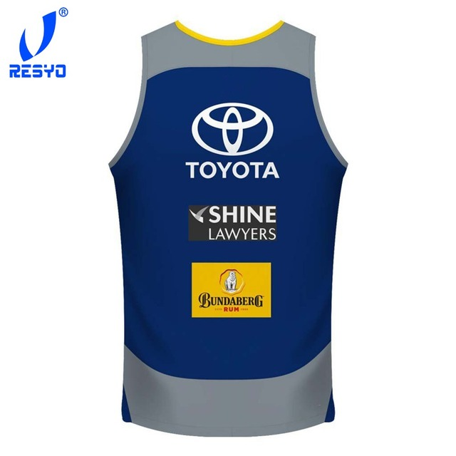 RESYO The Newest 2018-2019 North Queensland Cowboys Rugby Vest Rugby Jerseys Football Shirt/ Free shipping