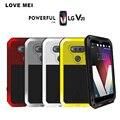 Amor mei waterproof case para lg tampa do telefone para lg v20 v20 armadura de metal case vidro temperado película protetora