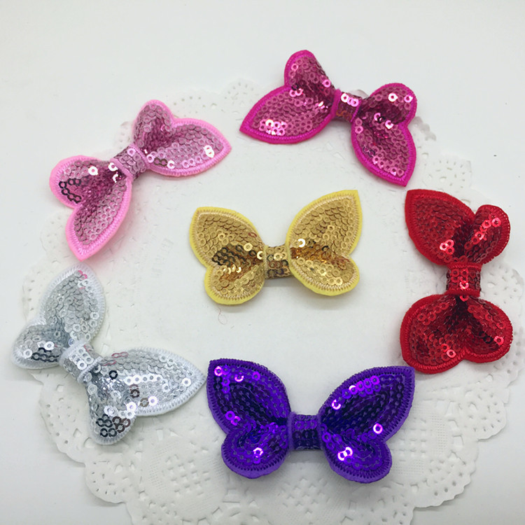 Color Sequins, Bow, Hair, Accessories, Accessories.