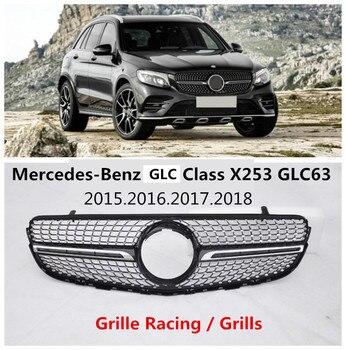 オートグリルグリル用メルセデス-ベンツglcクラスx253 glcクーペ2015-2018高品質absアクセサリーems送料無料