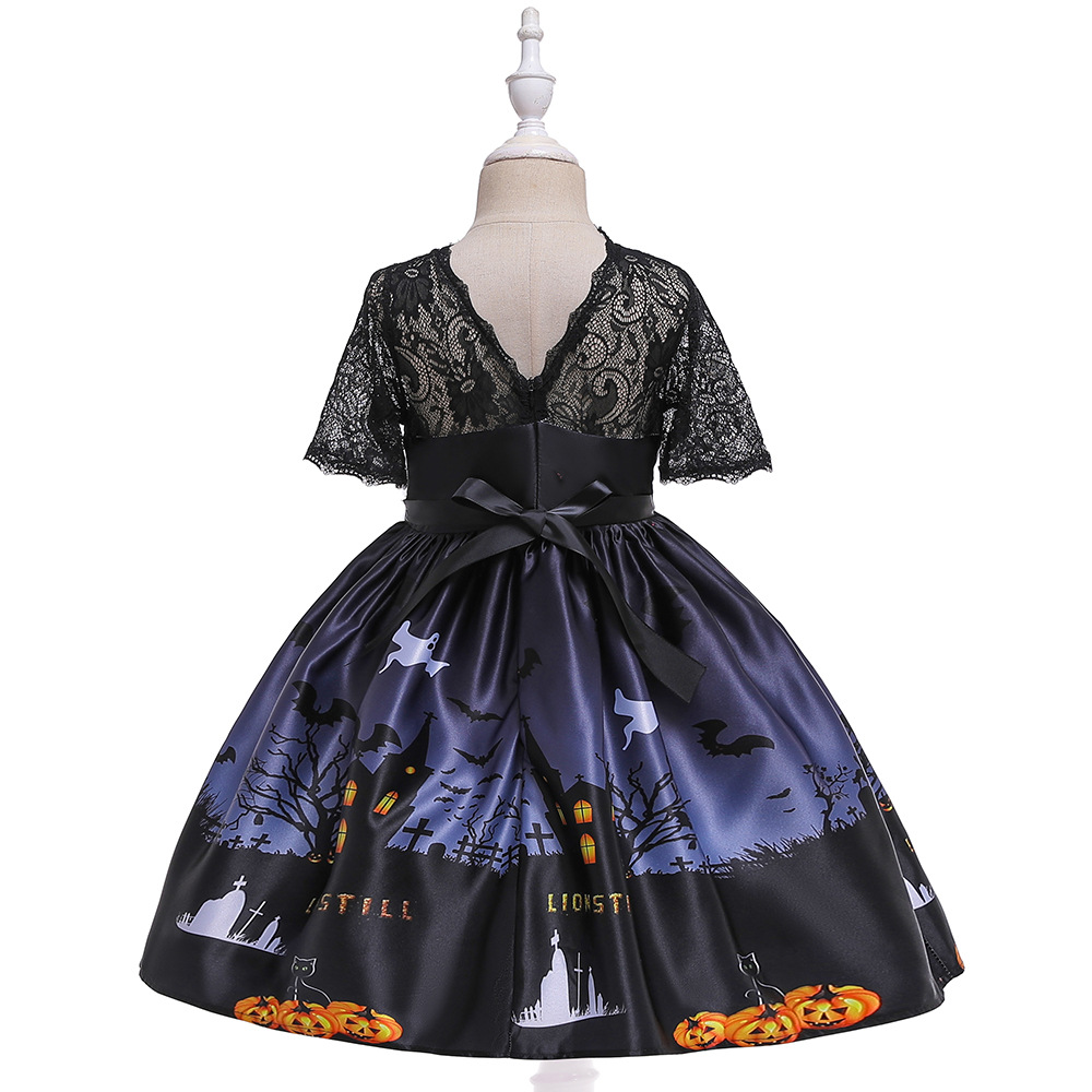 Girls Dresses For Kids 2019 Halloween Cosplay Party Dress Clothes Teens Princess Dress Hat Children Christmas Carnival Dresses (12)