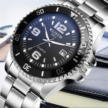 WLISTH 2019  relogio masculino mens casual quartz watch stainless steel top brand luxury waterproof watches men