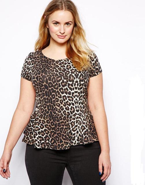 Sexy Leopard Mujeres de la camiseta Más El Tamaño 6XL 5XL Grande grande tamaño Señora Túnicas De Verano 4XL Señoras Tops y Camisetas Ropa Corta manga