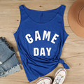 Vessos 2017 Women Tank Crop Top Game Day Casual Tee T-Shirt Cropped Feminino