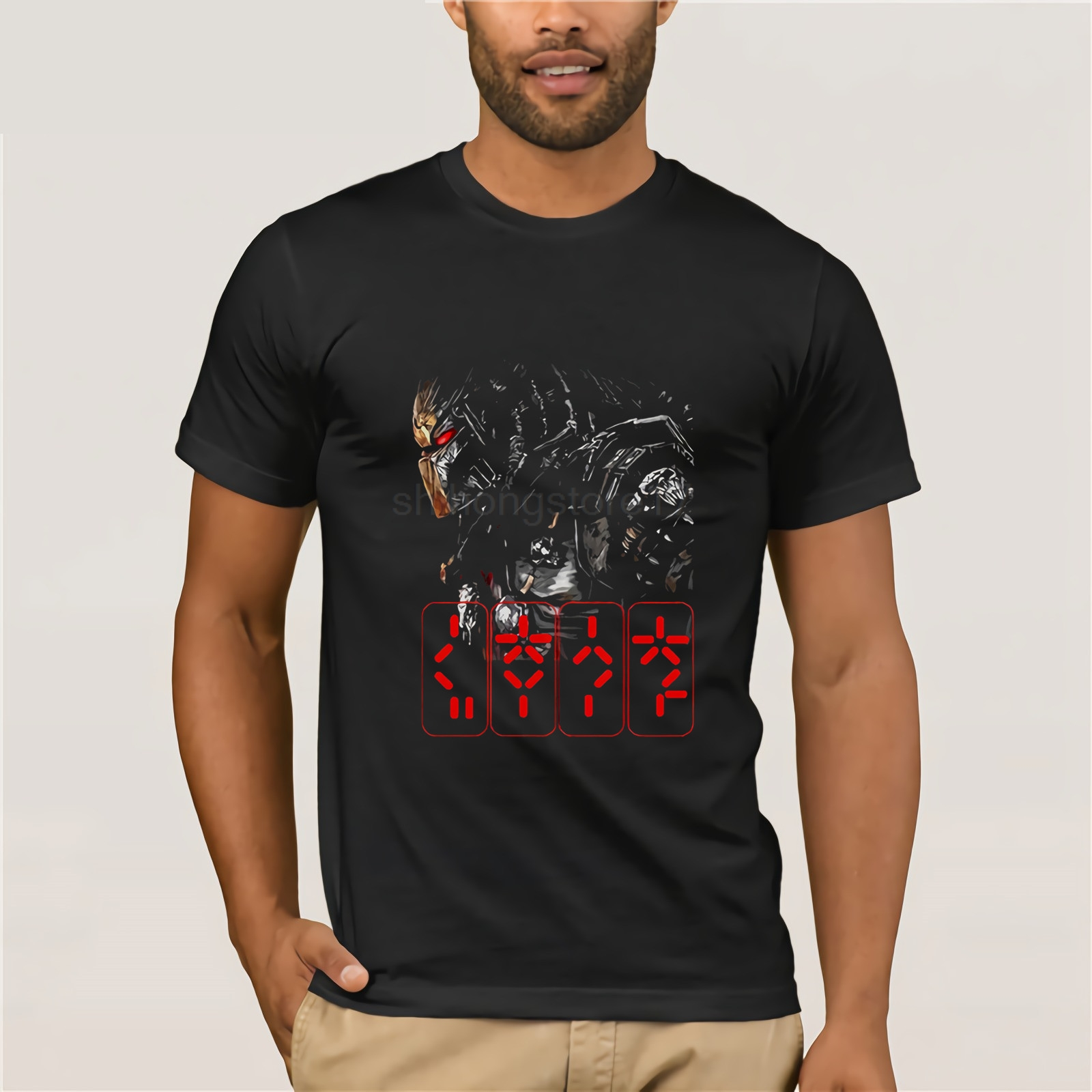 New PREDATOR Horror Thriller Movie Black T-Shirt T Shirt Tee Size S-3XL T-Shirt Fashiont Shirt Free Shipping Top Tee image