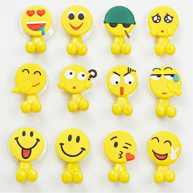 Bathroom Sets Toothbrush Stands Cartoon  Toothbrush Rack Toothbrush Holder Eco-Friendly Sucker Hooks  Funny Smiling Face